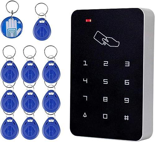 OBO HANDS RFID lector de tarjetas de control de acceso independiente con Digital teclado + 10 TK4100 teclas para hoga...