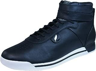 GEOX D Chewa B Womens Leather Trainers/Hi Tops - Black