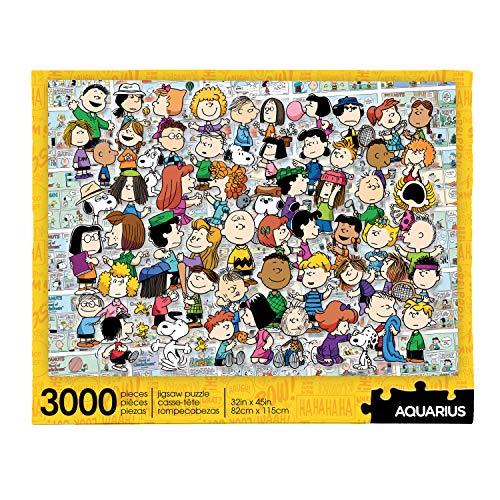 AQUARIUS Puzzle de Peanuts Cast (3000 piezas de rompecabezas de rompecabezas) – Producto oficial de Peanuts Merchandise & Collectibles – Ajuste de precisión – Prácticamente sin polvo de rompecabezas – 32 x 45 pulgadas, multicolor (68516)