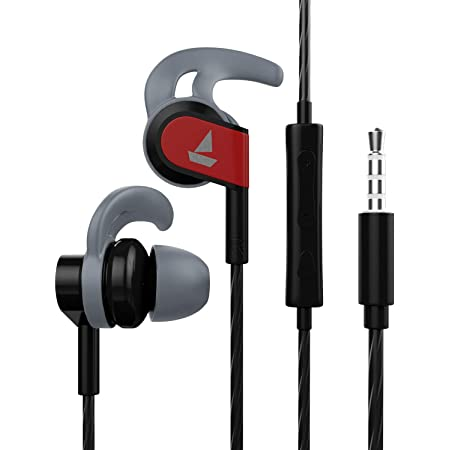 boAt Bassheads 242 in Ear Wired Earphones with Mic(Active Black)