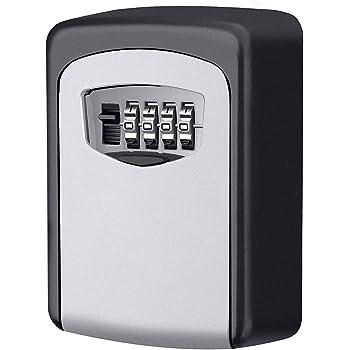 Caja fuerte para llaves, Candado de Seguridad con Combinación 4 dígitos,Caja de Seguridad para Llaves, se puede clavar en la pareds, Adecuada para el Hogar, el Garaje y la Granja,ect: Amazon.es: Bricolaje