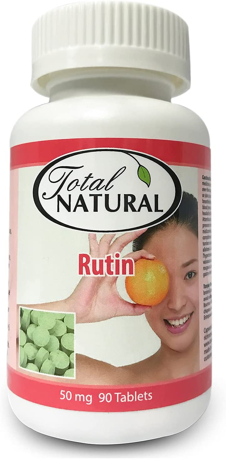 Rutin 50mg 90 Tablets 2 Anti-inflamm Total Natural by All items free shipping Industry No. 1 Bottles