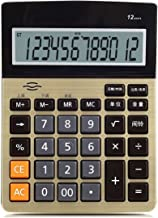 $36 » Sdesign Voice Calculator Golden Color Office Desk Calculator, Functional Electronic Calculator, with 12-Digit LCD Display ...