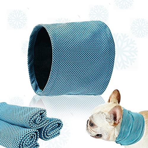 Collar Refrigerante para Perros,Collar de Enfriamiento para Mascotas,Pañuelo Refrescante para Perros,Bandana de Enfriamiento para Perros (S)