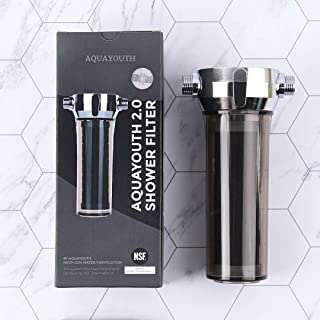 AquaYouth 2.0 Shower Filter   Removes Chlorine, Heavy Metals, And More   Great For Dry Skin, Dry Hair, And More   NSF Cert...