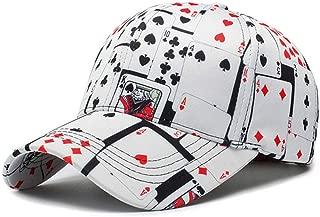 Poker Game Playing Card Adjustable Cotton Baseball Hat Cap Visor Unisex Hip Hop Hat