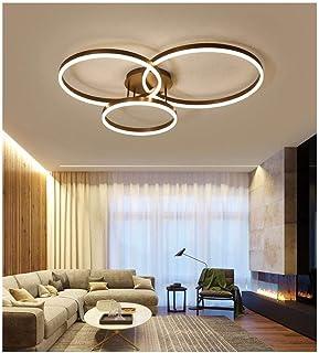 2リングクリエイティブモダンシーリングライトミニマリストメタルアクリルペンダントライトランプインテリア装飾シャンデリア