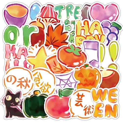 WYZNB Animales y Plantas De Dibujos Animados Vegetales Manual Pegatinas De Color Caramelo De Los Niños Pegatinas De Copa De Agua Cuaderno De Celebración