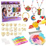 Gifts for Girls Kids age 7 8 9 10, Arts and Crafts for 5-10 years old Girls Kid Jewellery Making kit Necklace Bracelet Making Set Toy for 5 6 7 8 years old Girl Child Thanksgiving Birthday Present