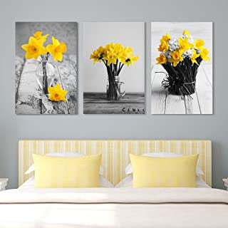wall26 - Yellow Flowers in Vases - Canvas Art Wall Decor - 16