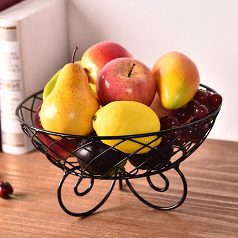 Corbeilles à fruits Coupes de fruits Grand panier de fruits créatif Maison Salon Assiette de fruits Assiette de fruits séchés -Bols et saladiers (Couleur   noir)