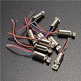 ILS - 10 pezzi 4x8mm DC1.5-3V Micro Coreless Motor Motorino Vibration Motor Motorino