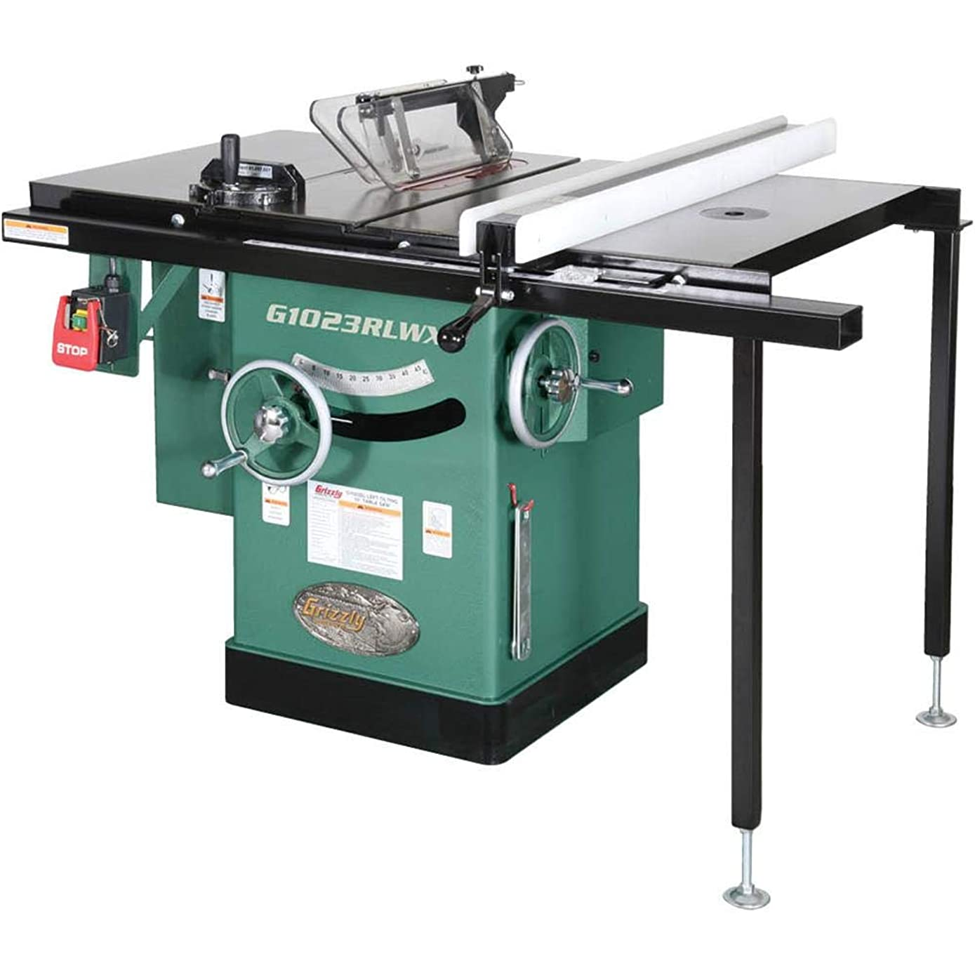 Grizzly G1023RLWX Cabinet Left-Tilting Table Saw, 10
