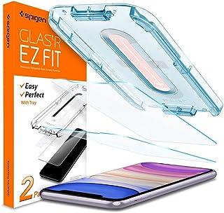 واقي شاشة هاتف ايفون 11 / ايفون اكس ار مصنوع من الزجاج المقسى من سبيجين Glas.tR EZ قياس 6.1 انش امن على الغطاء - عبوتان