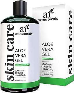ArtNaturals Aloe Vera Gel for Face, Hair & Body - Certified Organic, 100% Pure Natural & Cold Pressed 12 Oz - For Sun Burn...