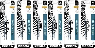 Zebra G-301 Stainless Steel Pen JK-Refill, Medium Point, 0.7mm, Black Ink, 2-Count (6 Pack)