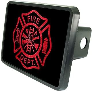 Fire Dept Red Symbol Custom Hitch Cover 2