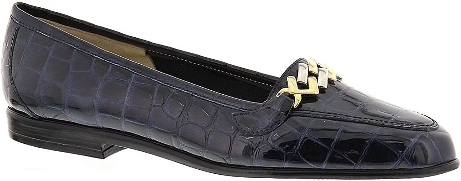 Amalfi By Rangoni Womens OSTE Closed Toe Oxfords Navy Size 6.5