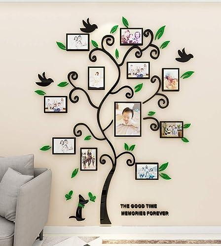 Stickers Muraux Arbre Cadre de Photo 3D DIY Mural Autocollants Arts Décoration de la Maison pour Chambre, Salon, Cham...