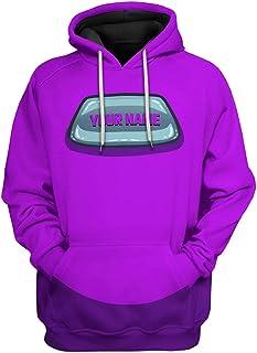 POOMALL Hoodies Sweatshirts Men Women Sports Coat Hooded Sweatshirt Hoodies - Game Among us Hoodie Adult Green Print Hoode...