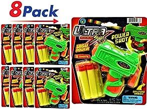 JA-RU Ultra Foam Dart Gun (8 Packs) Super Mega Powerful Shotgun Blaster Shot Handgun Party Favor. Plus 1 Collectable Bouncy Ball | Item #5483-8