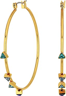 Rebecca Minkoff Floating Triangles Hoop Earrings