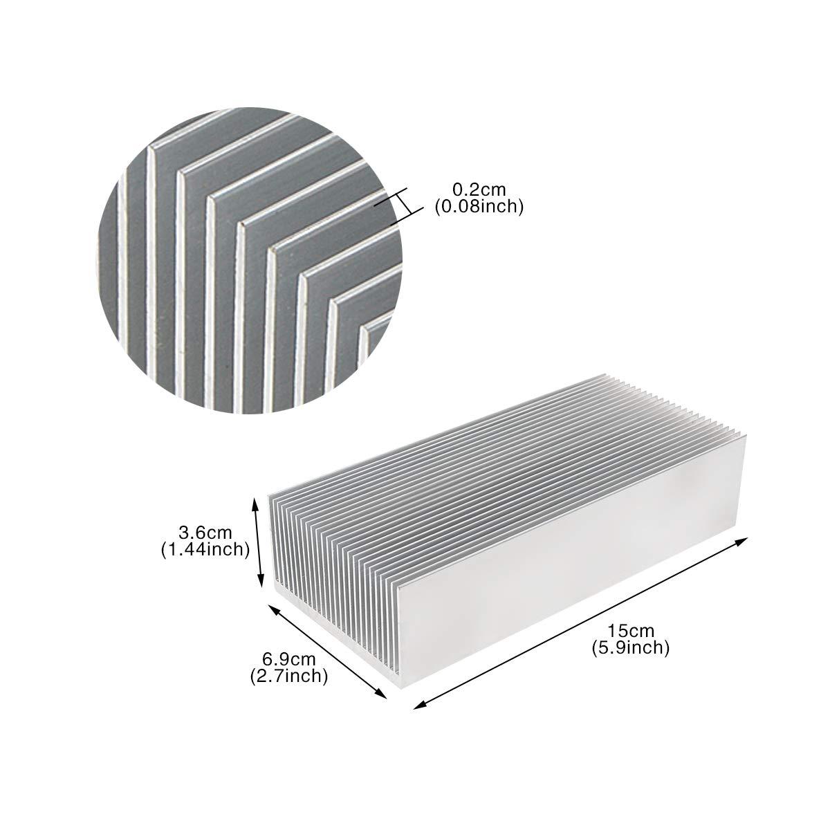 Pack of 2 Heat Sinks maxiFLOW Heatsink with maxiGRIP Attachment Blue-Anodized ATS-50250G-C1-R0 25x25x12.5mm, T766