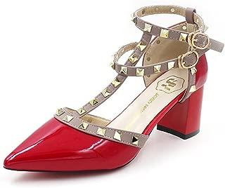 Vlad Konovalov Women Pumps Rivet Slingback Studs Straps Stilettos High Heels Pointed Toe Sandals