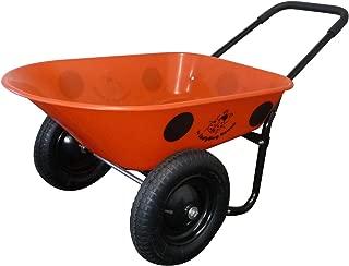 Marathon Dual-Wheel Residential Yard Rover Wheelbarrow and Yard Cart - Ladybug