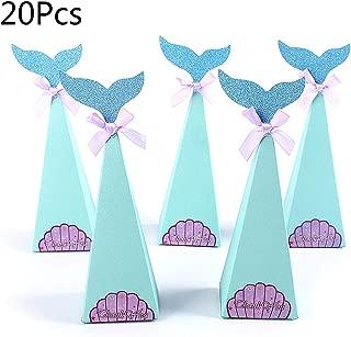 jiheousty 20 Unids/Set Fish FishShell Sticker Bowknot Candy Box Regalo de la Fiesta de cumpleaños Embalaje Decorativo Suministro