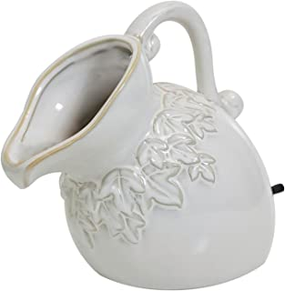 POND BOSS SPPC Ceramic Pouring Pitcher Spitter, Cream