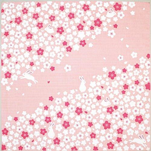 宮本 kenema 日本製 小風呂敷 お弁当 クロス 和柄 手捺染 桜 うさぎ 50×50cm 83434