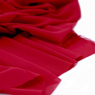Sheer Fabric Wedding Decoration Organza Fabric Style 1901 Regal Red Organza Fabric by the Yard
