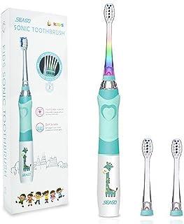 Elektrische Zahnbürste Kinder, SEAGO Batterie Kinderzahnbürste, Weiche Bürste Schallzahnbürste mit Timer für Kinder(Alter ...