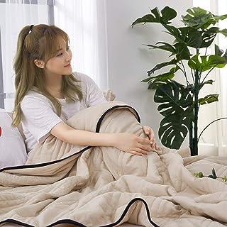 La manta del sofá 100% poliéster Impreso Funda nórdica de algodón lavado estampado Acolchado fino Acondicionador de aire Ligero Ropa de cama transpirable Juegos de colchas Adecuado para sofá y cama