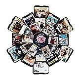 Lembeauty facciate esagono a Sorpresa Regalo Esplosione Box DIY Scrapbook Photo Album Kit di Accessori per Compleanno