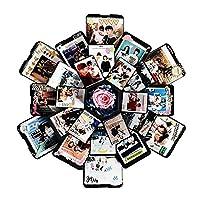 Materiale: carta Facile da usare, solo in base alle tue idee sul fai da te, può darti un risultato soddisfacente. Ognuno dei nostri momenti commoventi merita di essere registrato in questa bellissima scatola di memoria, in modo che la memoria non ven...