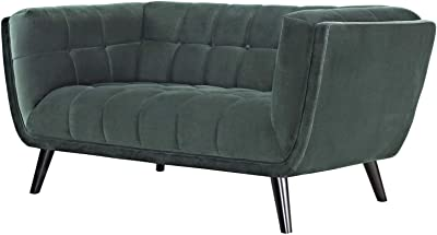 Amazon.com: Upholstered Mid Century Sectional Sofa Futon ...