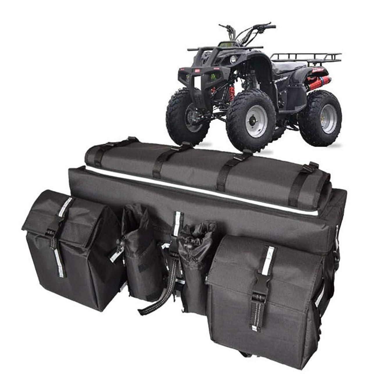 COCO Tec ATV Cargo Bag,Rear Rack Storage Gear Bag with Topside Bungee Tie-Down Storage Padded-Bottom,Waterproof,Heavy Duty
