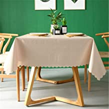 Tablecloth Waterproof, oilproof, Anti-scalding, Disposable, Household, Solid Color, Rectangular Living Room, Hotel Table Cloth Cream Color 140x240cm