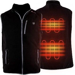 PROSmart Heated Vest Polar Fleece Lightweight Heated Waistcoat with USB Bettery Pack, Unisex