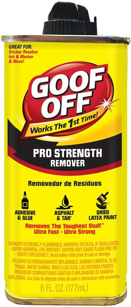 Goof Off FG661 Professional Remover Dealing full price reduction Strength oz 6 Max 77% OFF