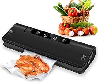 Vacuum Sealer Machine,AISIMEE ASM-S137 Automatic Food Vacuum Sealing System for Food Preservation w/Starter Kit - Seal Even Have A Lot of Water Leftovers - Compact Design& Easy Clean