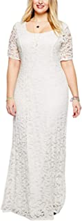 white lace dress size 20