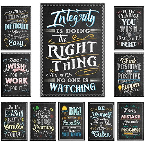 "Chalkboard Style Motivational Classroom Posters (13"" x 19"") 