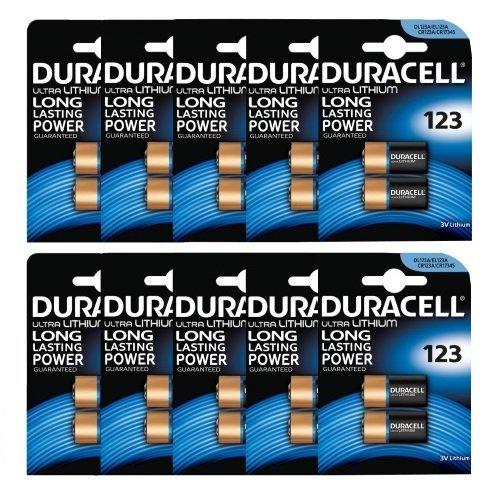 Duracell Ultra Kamera-Batterien (123/ 123A/ DL123A/ CR123A, 3 V), 20 Stü ck
