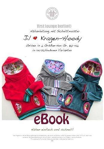 Jil Nähanleitung mit Schnittmuster für Kinder Kapuzen-Pullover-Kragen-Hoodie [Download]