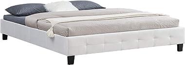 IDIMEX Lit Double futon Corse lit Adulte avec sommier Queen Size 160 x 200 cm Couchage 2 Places / 2 Personnes, revêtement en