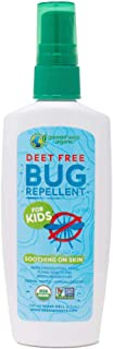 Greenerways Organic Bug Spray for Kids, Kid Friendly Natural Mosquito Repellent, USDA Organic, Non-GMO, Mosquito-Repellent, Bug Repellant, Clothing Safe DEET-Free - 4Oz