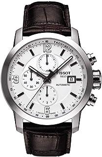 Tissot - Reloj de Vestir automático de Acero Inoxidable y Cuero marrón para Hombre (Modelo: T0554271601700)